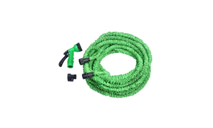 Fashion Latex 25 50 75 100 Ft Expanding  Water Hose & Spray Nozzle
