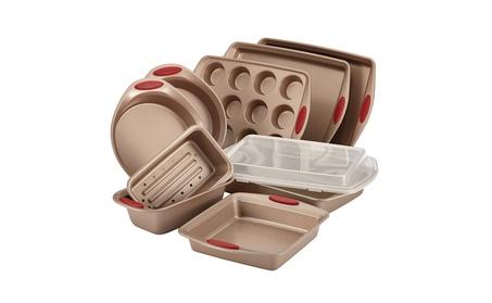 Rachael Ray Cucina Nonstick Bakeware 10-Piece Set, Latte Brown 59c208e6-6533-4328-af7f-353d79baa146
