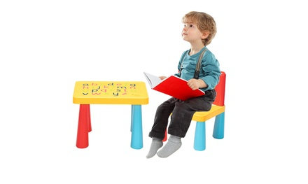Kids Plastic Desk and Chair Set