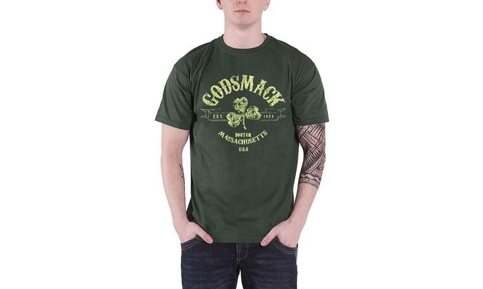 T-Shirt NEW /& OFFICIAL! Green Godsmack /'Celtic/'