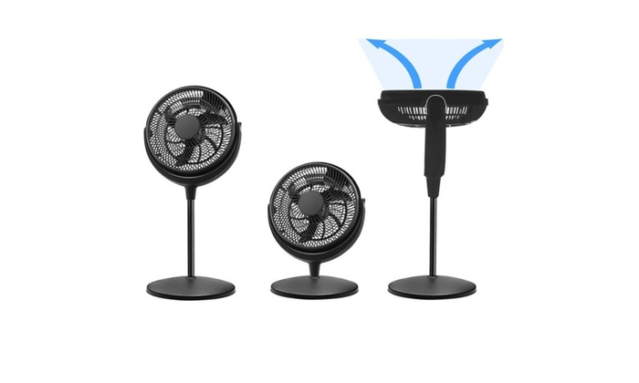 Energy Efficient Pedestal 12-inch Quiet 3 speed Floor Fan