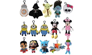 Plush Clip Key Chain Toy for Backpacks with Different Characters