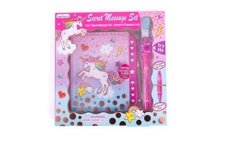 "Secret Diary Set - Kids 6"" Unicorn Journal with Invisible Ink Pen 10712459-b7a7-4b7d-9b32-4b8253d0b5ab"