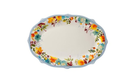 Willow Floral 21-Inch Oval Serving Platter 39dd05c9-9a11-489a-9fc1-5867cc0fe849