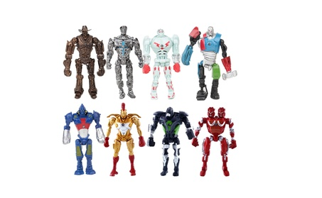 8 Pcs Real Steel Movie Atom Noisy Boy Midas Twin Cities Zeus Figures ba06aab9-1307-4659-88c7-818634365394