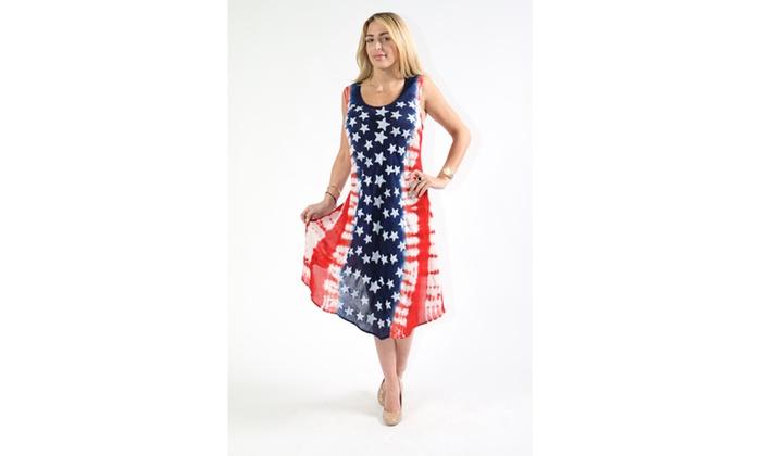 Women\'s American Flag-Inspired Dress. Multiple Styles ...