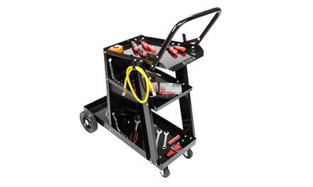 Deluxe Steel V3 Mig Welding Cart for Mig Tig Plasma Machine Fits Welder /& Tank