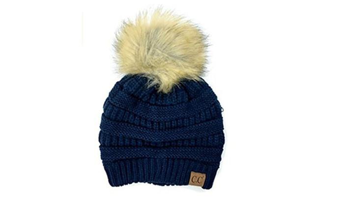 74aa5d7587ba0a CC Women Knitted Hat Winter Warm Comfortable Woolen Cap Beanie Hats