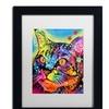 Dean Russo 'Alpha' Matted Black Framed Art