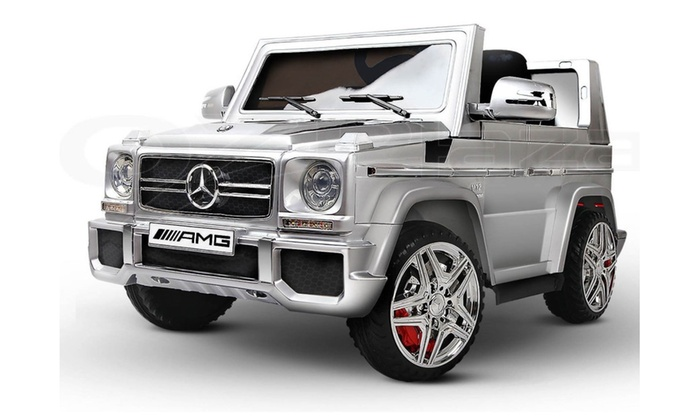 New 12v Mercedes Amg G65 Ride On Electric Car Kids Wheels Silver