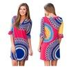 Women Plus Size Casual Half Sleeve Printing Dress