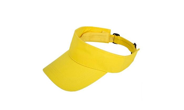 18b2e20669d Blank Golf Sports Summer Sun Visor Hats Visors Cotton 9 Colors Unisex
