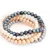 Bling Jewelry Set of 4 Freshwater Cultured Pearl Stretch Bracelets