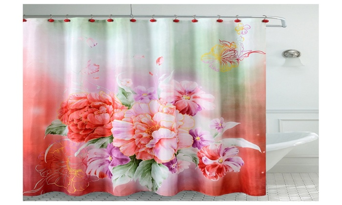Fancy Carnation Shower Curtain | Groupon