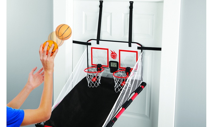 Sharper Image Electronic Over-the-Door Basketball Hoops Game | Groupon