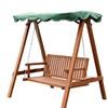 Garden Outdoor 2 Person Larch Wooden Swing Loveseat Hammock Canopy