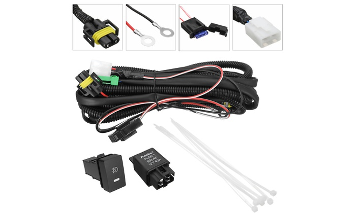 H11 Fog Light Wiring Switch Relay Harness Sockets Wire LED Indicator H Fog Light Wiring Harness on