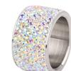 Stainless Steel Crystal Stone Wedding Women Rings
