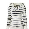 Long Sleeve Striped Hoodies Women Casual Hooded Pullovers