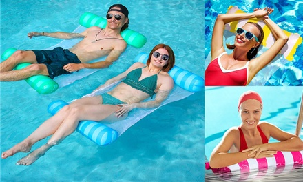 4 in 1 Multi-Purpose Inflatable Pool Hammock Float Pool Chair with Air Cylinder