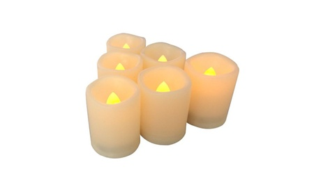 Candle Choice 6 PCS Premium Flameless Candles with Timer, LED Votive, Batte 30be5be1-d6b3-411d-ab36-49ccf0746bba