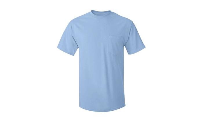 Hanes Cotton Short-sleeve Pocket T-Shirt, 5590-1