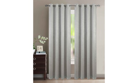Extra Wide 110X84 Heavy Blackout Velvet Embossed Grommet Curtain Panel Pair d8d2e053-3a96-4a19-b8a0-3a09ac798da6