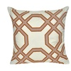 "Loom and Mill P0738-2020P - 20""X20"" Tan Geo Center Pillow"