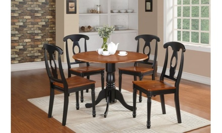 East West Furniture Small Kitchen Table Set- Small Table and 2 Dining Chairs