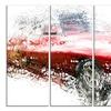 Red Classic Luxury Car Metal Wall Art