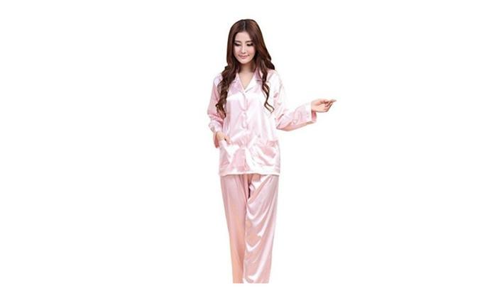 Women's Button Down Nightwear Homewear Sleepwear