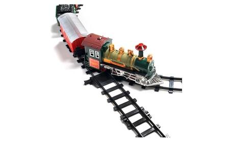 Wadeo Kids Classic Holiday Battery Operated Railway Train Set Music c938676a-13e0-4703-9e71-4ecf9f2fb572