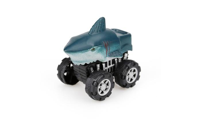 4PCS Animal Children/'s Gift Toy Dinosaur Model Mini Toy Car Gift Pull Back Car