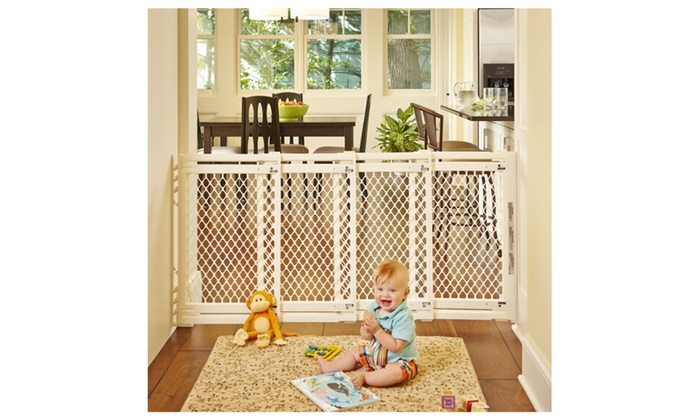 23c997fdd North States Extra Wide Sliding Swing Door Baby Gate
