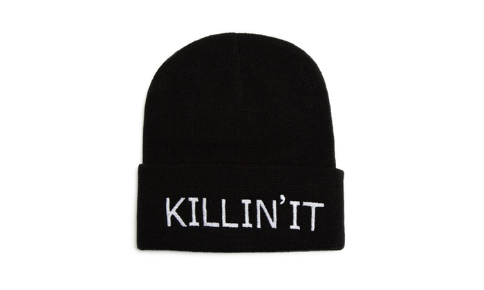 Killin' It Hat Embroidered Beanie One Size
