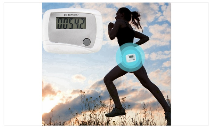 Digital LCD Walking Running Pedometer Odometer Single Function