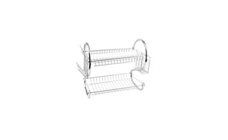 Tiers Dish Cup Drying Rack Holder Organizer Drainer Dryer Tray Cutlery b1a6ad4e-c3b7-4386-8fca-0340aa68b98d