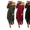Off-the-Shoulder Long-Sleeve Long Pregnant Women Dress