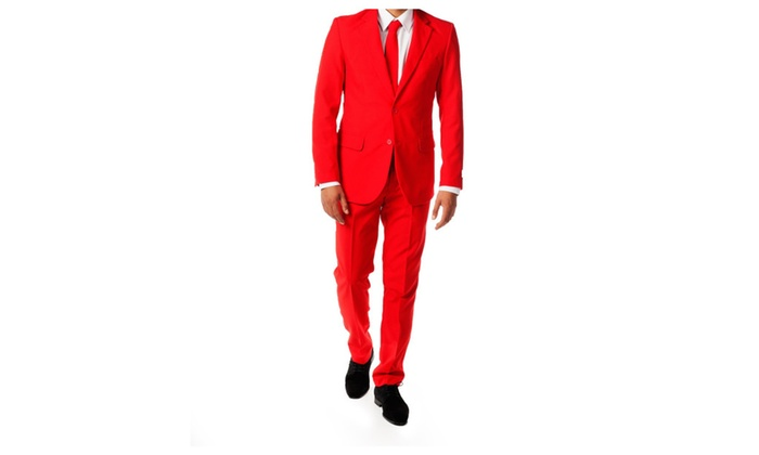 new two (2) button beautiful red suit.