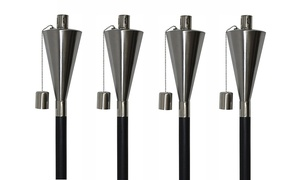 Stainless Steel Cylinder Torches (4-Pack)