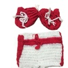 Uniqstore Photography Prop Handmade Crochet Knitted Boxing Glove Pants