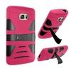 Insten Hard Hybrid Case W/stand For Samsung Galaxy S7 Hot Pink/black