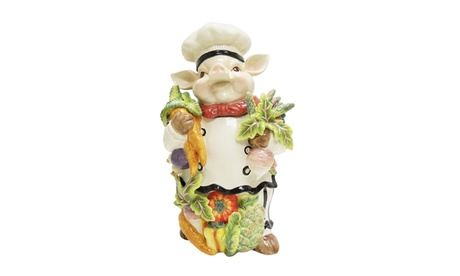 Kaldun and Bogle Bistro Couchon Chef Pig Cookie Jar 93776e01-fd1f-4b06-9e42-08976a64bf63
