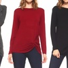 Style Clad Women's Long-Sleeve Twisted Knot Top