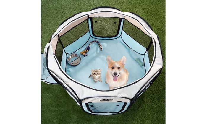 Merveilleux Petmaker Portable Pop Up Pet Playpen With Carrying Bag ...