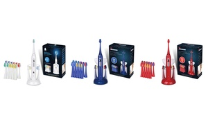 Pursonic SmartSeries Sonic Rechargeable Toothbrush with 12 Brush Heads