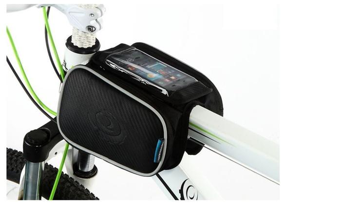Cellphone Bag Bicycle,Bicycle Front Phone Bag,Bike Road Bike Cycling  - Black