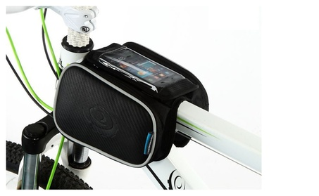 Cellphone Bag Bicycle, Bicycle Front Phone Bag, Bike Road Bike Cycling - Black 2a3e1480-8ead-45c8-bcc7-e27723cea369