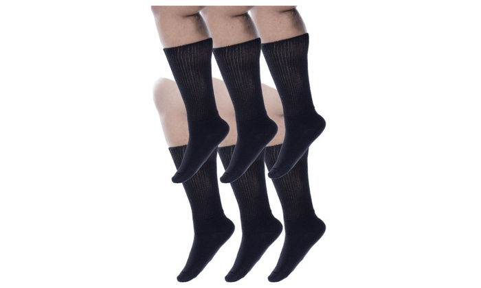 4407c61b54c Zaftig Womens Plus Size Crew Socks 100 Cotton Expandable Calf