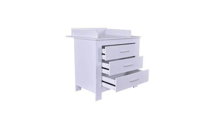 Baby Changing Table W 3 Drawer Nursery Diaper Station Dresser Infant